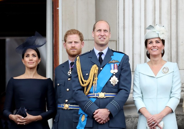 Meghan Markle, Príncipe Harry, Príncipe William e Kate Middleton (Foto: Getty Images)