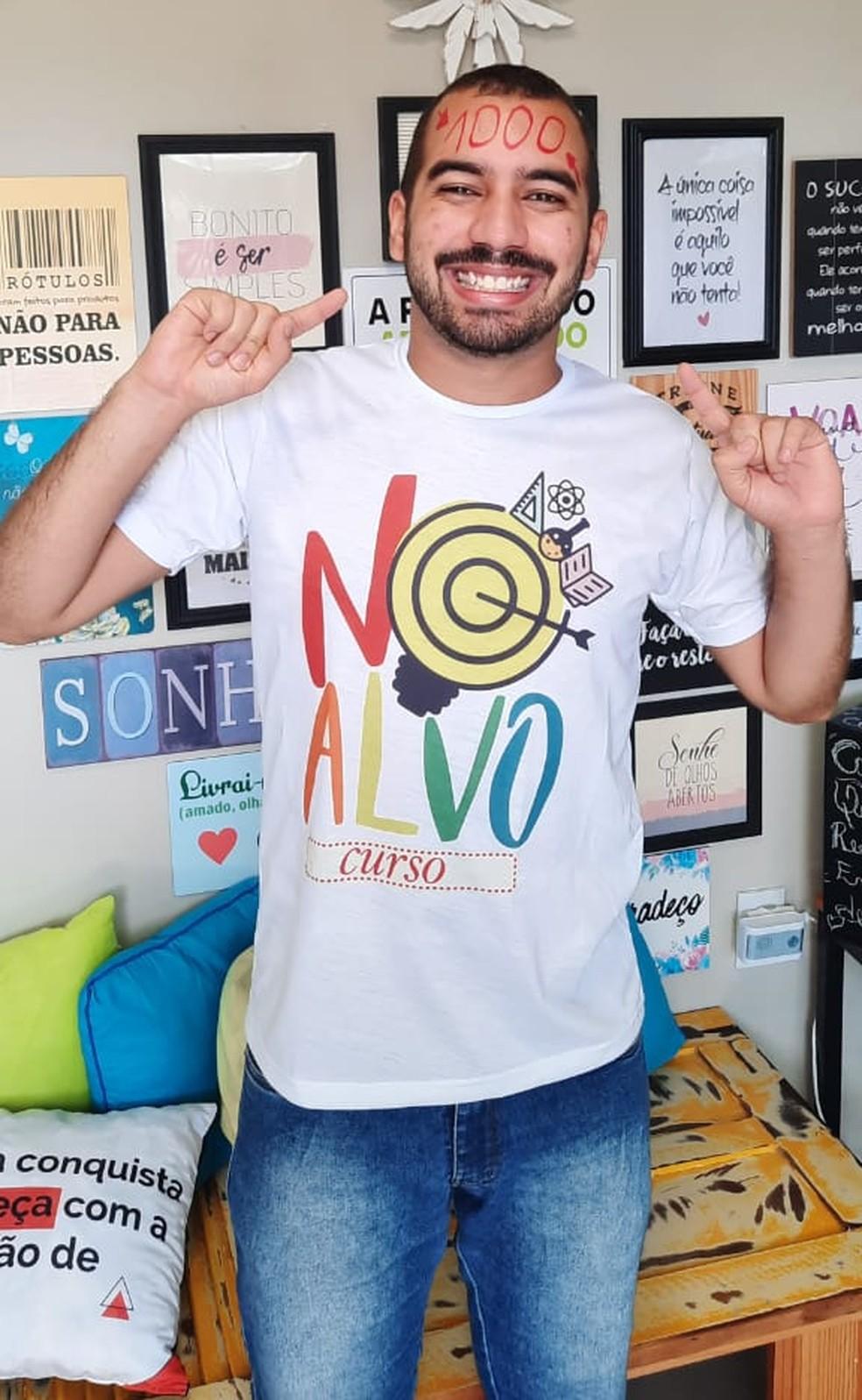 Luiz Pablo foi um dos poucos estudantes do Brasil a tirar nota máxima na redação — Foto: Arquivo Pessoal