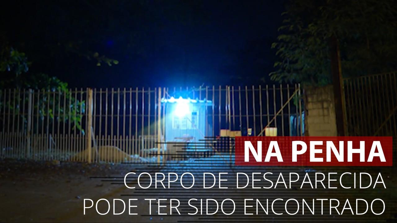 VÍDEO: Imagens mostram local onde corpo de jovem desaparecida na Penha foi encontrado