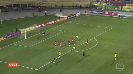Seleção brasileira Sub-23 vence o Chile por 3 a 1 em amistoso em SP