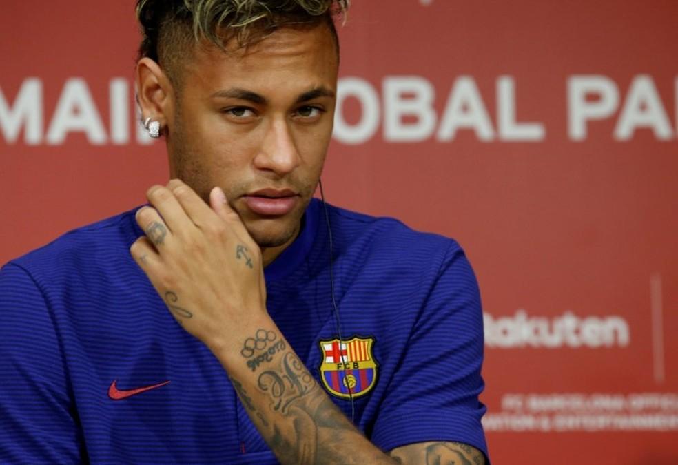 Neymar defendeu o Barcelona entre 2013 e 2017 — Foto: REUTERS/Kim Kyung-Hoon/File photo