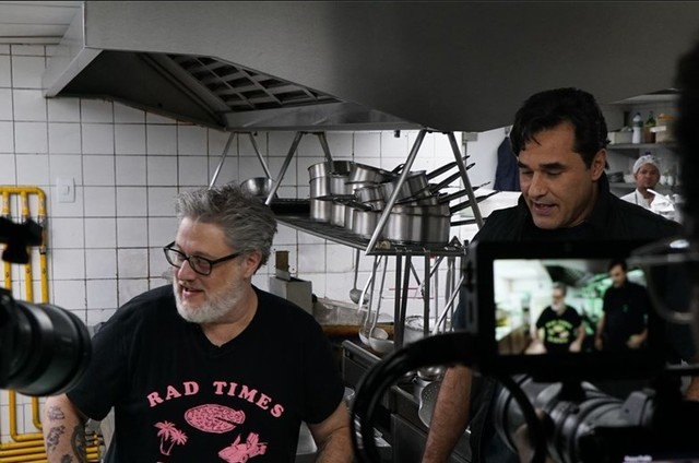 """Luciano Szafir gravando """"Os Szafirs"""" (Foto: Divulgação)"""