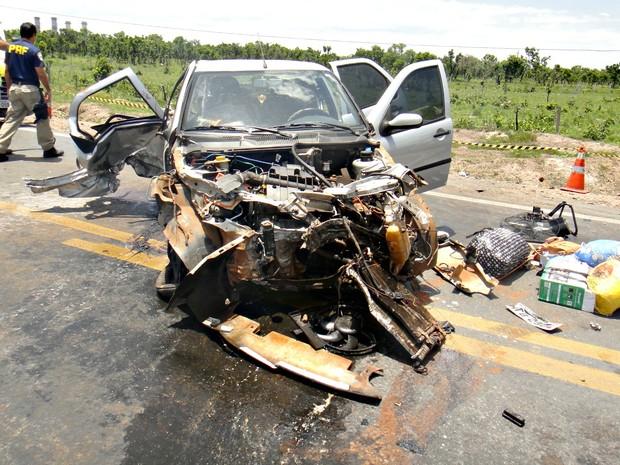 Motorista do veículo perdeu o controle e chegou a sair da pista, segundo a PRF (Foto: Arquivo Pessoal)