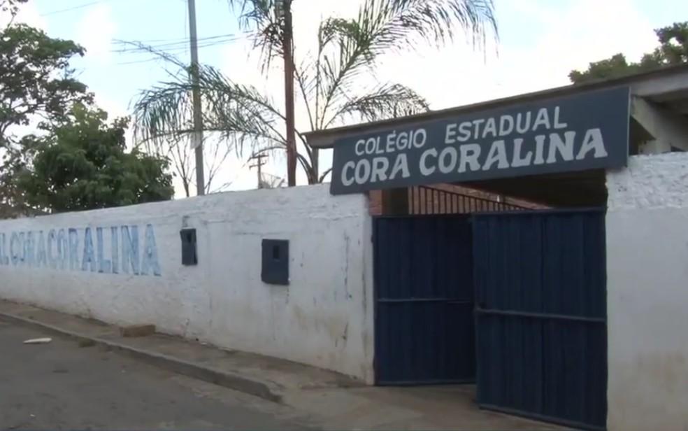 Colégio Estadual Cora Coralina, em Goiânia — Foto: Reprodução/TV Anhanguera