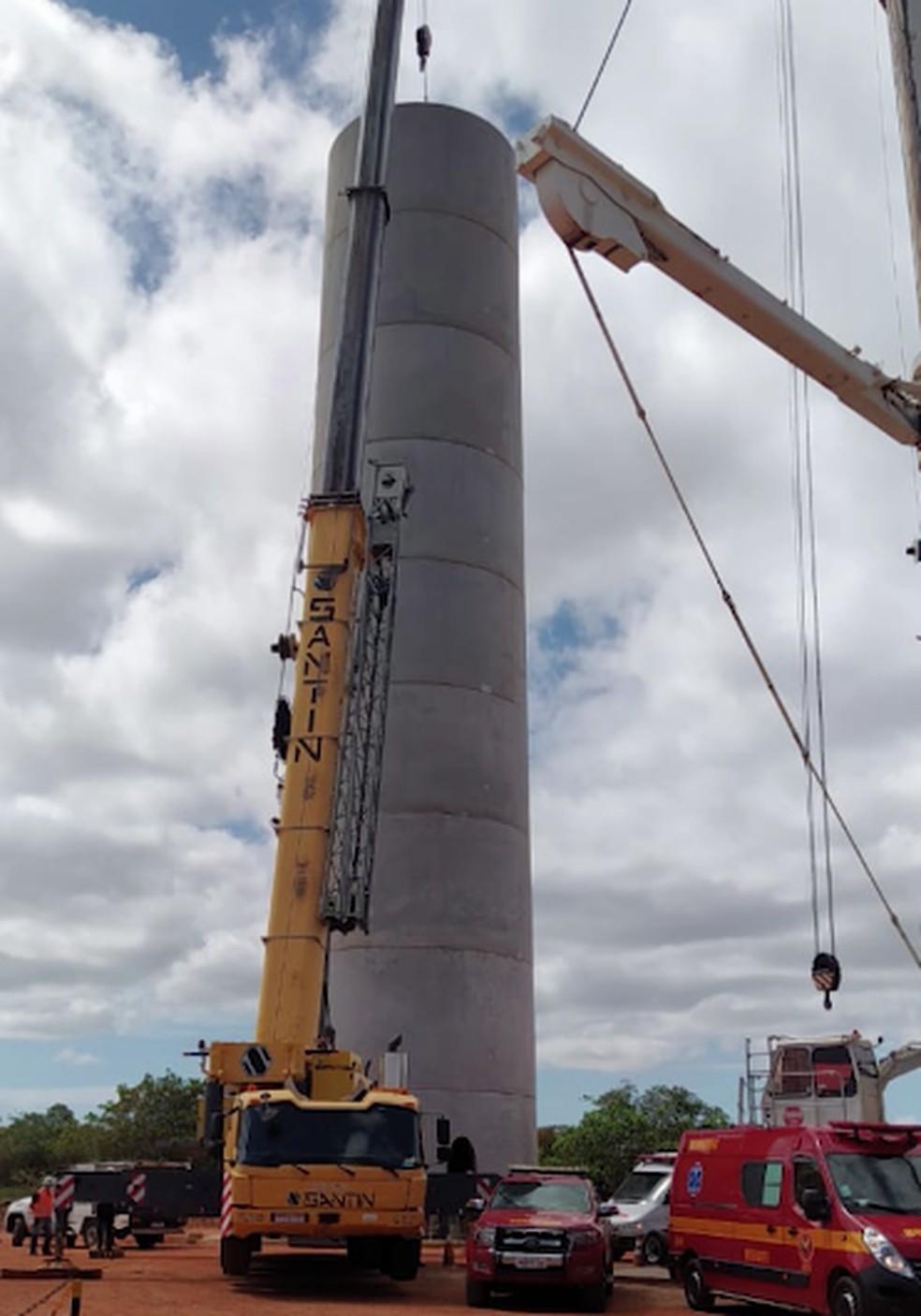 Gerson caiu de torre de aproximadamente 35 metros — Foto: Cedida