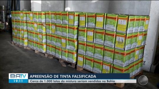 Cerca de mil latas de tinta falsificada em São Paulo são apreendidas na Bahia
