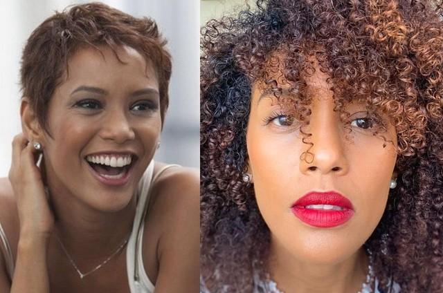 Taís Araujo mostra foto de 2012 e visual atual; antes e depois de 'transição capilar' (Foto: Juliana Coutinho/Divulgação e Reprodução/Instagram)