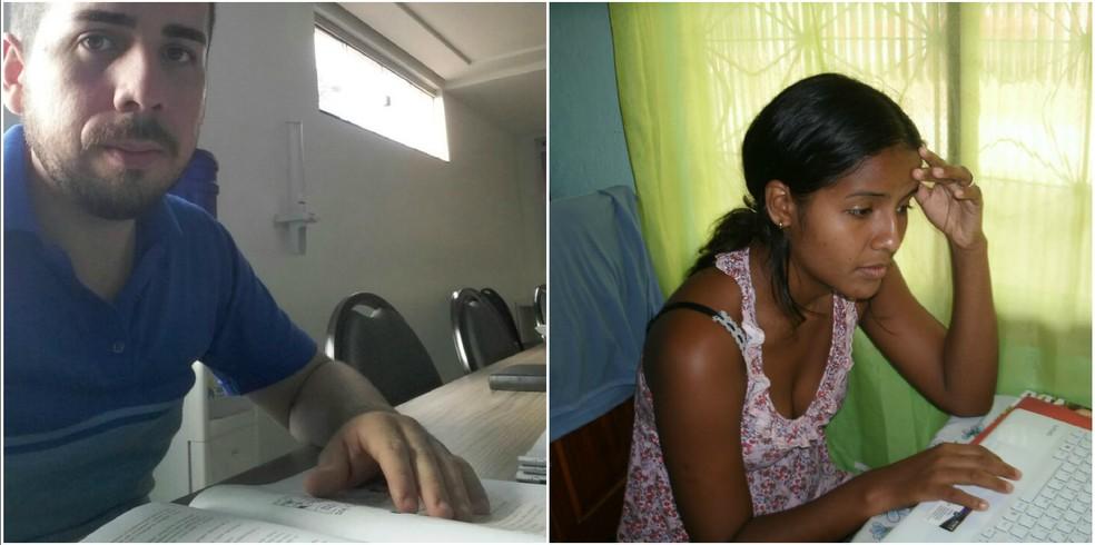 Foram anos de muito estudo e frustrações, até o casal ser aprovado no sonhado concurso para PM — Foto: Ângela Martins/Arquivo Pessoal