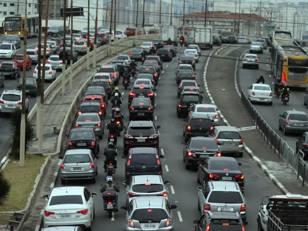 Foto de arquivo mostra trânsito intenso na Radial Leste — Foto: Felipe Rau/Estadão Conteúdo