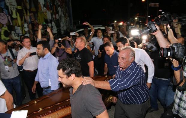 Velório de Ricardo Boechat, em São Paulo (Foto: Deividi Correa/AgNews)