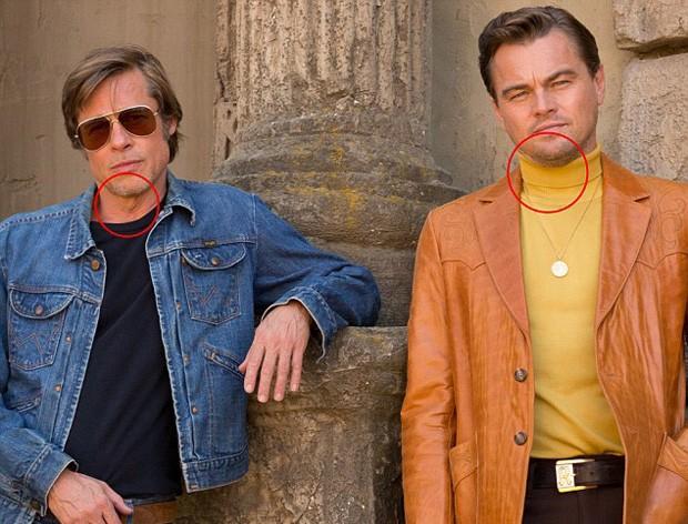 Brad Pitt e Leonardo DiCaprio sem Photoshop (Foto: © Sony Pictures Entertainment)