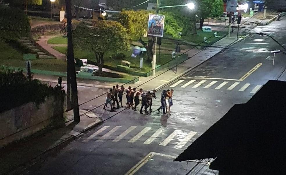 Assaltantes fizeram reféns em Cametá, no Pará.  — Foto: Reprodução/ Redes sociais
