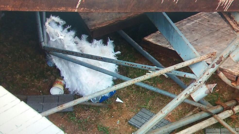 Resto da dantasia de uma das vítimas. (Foto: José Gilton/TV Sergipe)