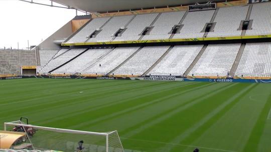 """""""É sangue no olho"""": montagem revela frase de mosaico da torcida para final da Copa do Brasil"""