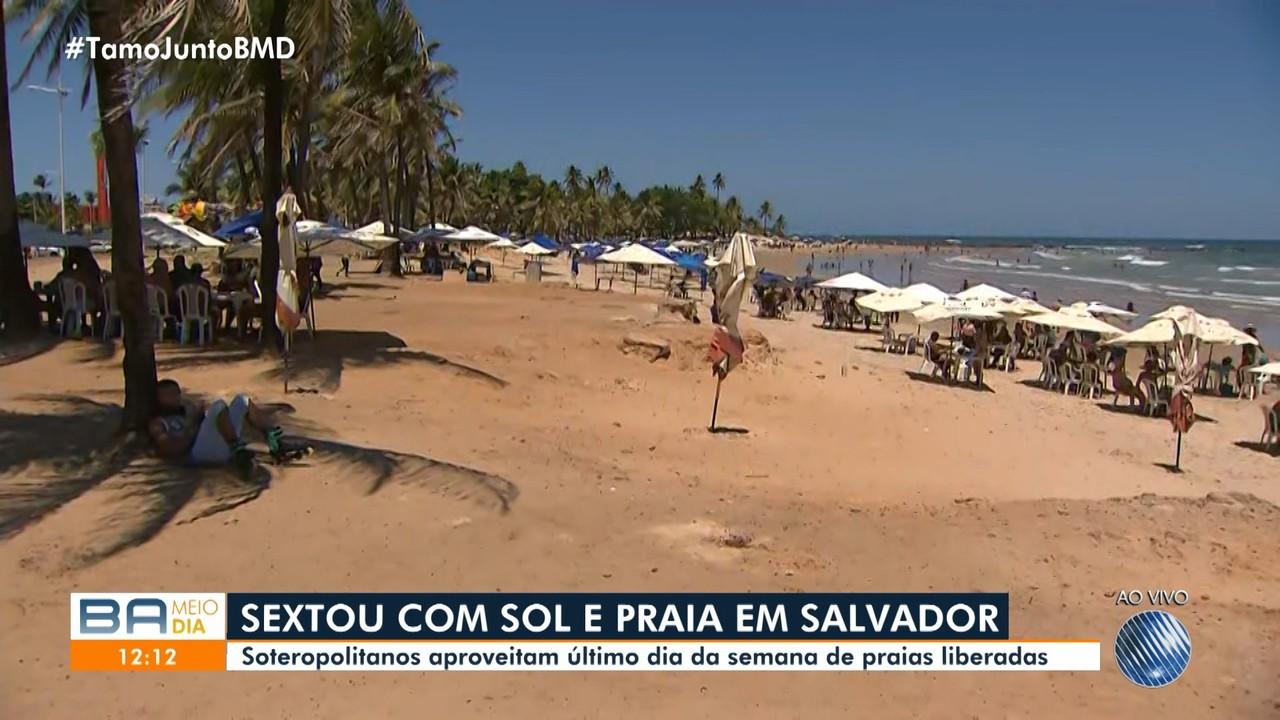 Praias de Salvador vão ter fiscalização para não serem utilizadas no fim de semana
