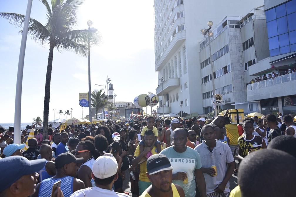 Olodum agita foliões no Circuito Dodô (Foto: Elias Dantas/Ag. Haack)
