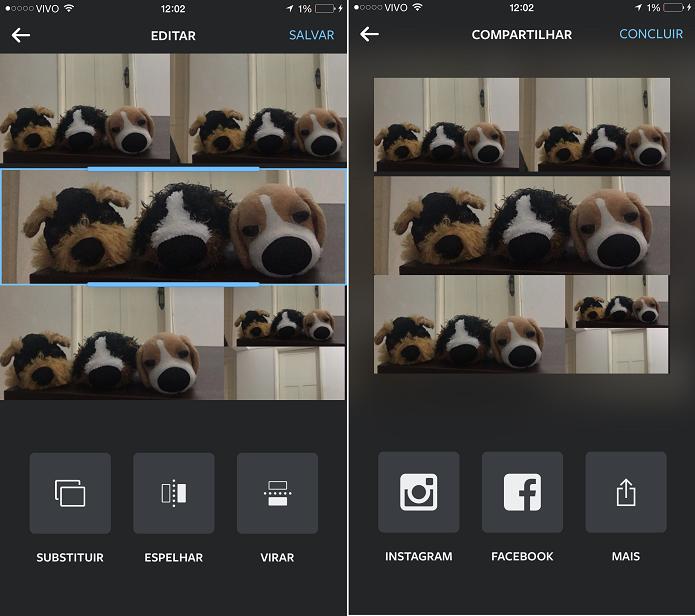 Ajustando imagens no layout e compartilhando em reeds sociais  ( Foto: Aline Jesus/Reprodução)