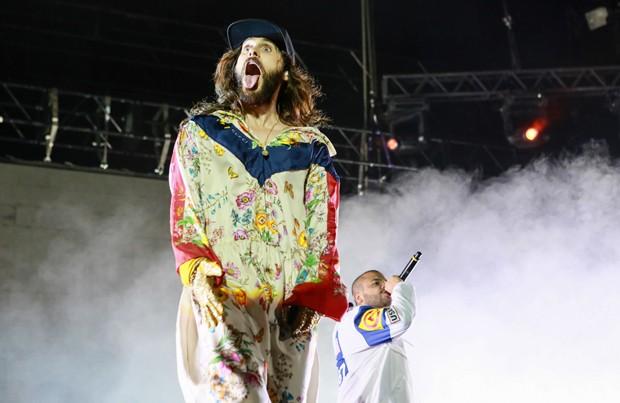 Jared Leto e Projota (Foto: Iwi Onodera/Brazil News)