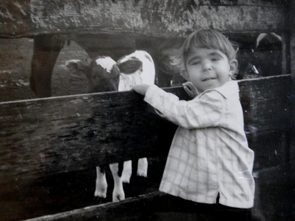 Rick Bastos durante a infância, antes de receber o diagnóstico de Langer-Giedion  — Foto: Ithiel de Bastos/Arquivo pessoal