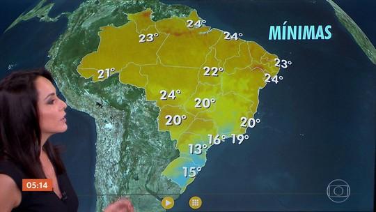 Alerta para temporais na BA e pancadas de chuva em MG