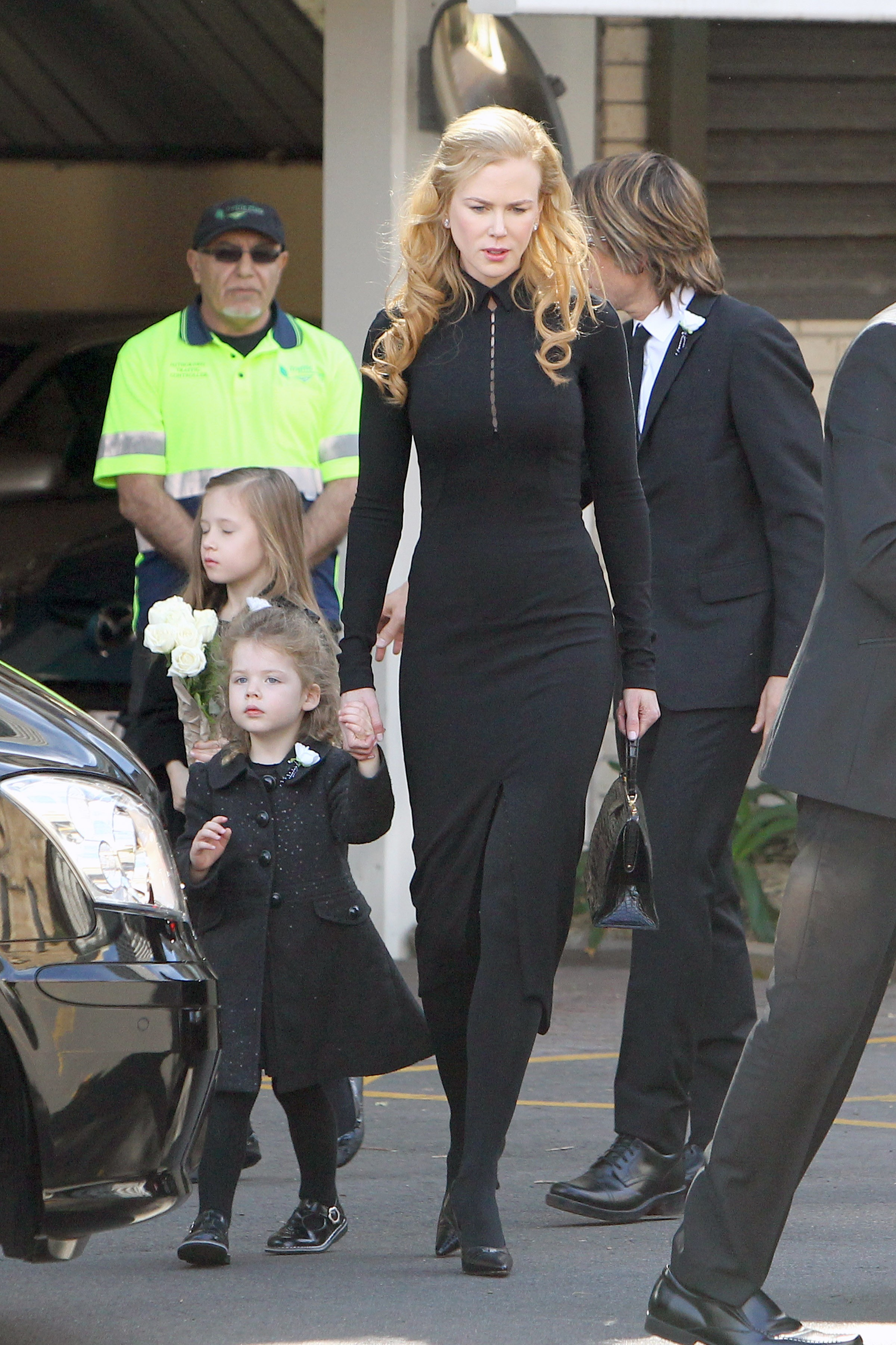 Nicole Kidman, Keith Urban, e filhas Sunday Rose e Faith Margaret (Foto: The Grosby Group)