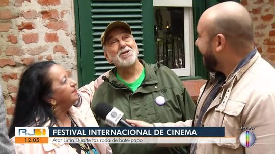 Ator Lima Duarte é homenageado pelos 70 anos de carreira em Festival Internacional de Cinema no RJ