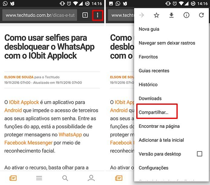 Google Chrome pode ter site salvado em PDF sem instalar nada (Foto: Reprodução/Elson de Souza)