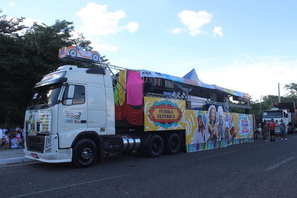 Caminhão que ganhou prêmio de mais animado em 2018 - Corso de Teresina 2019 — Foto: G1 Piauí