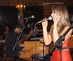 Sabrina Parlatore no show no Terraço Itália, em São Paulo | Arquivo pessoal