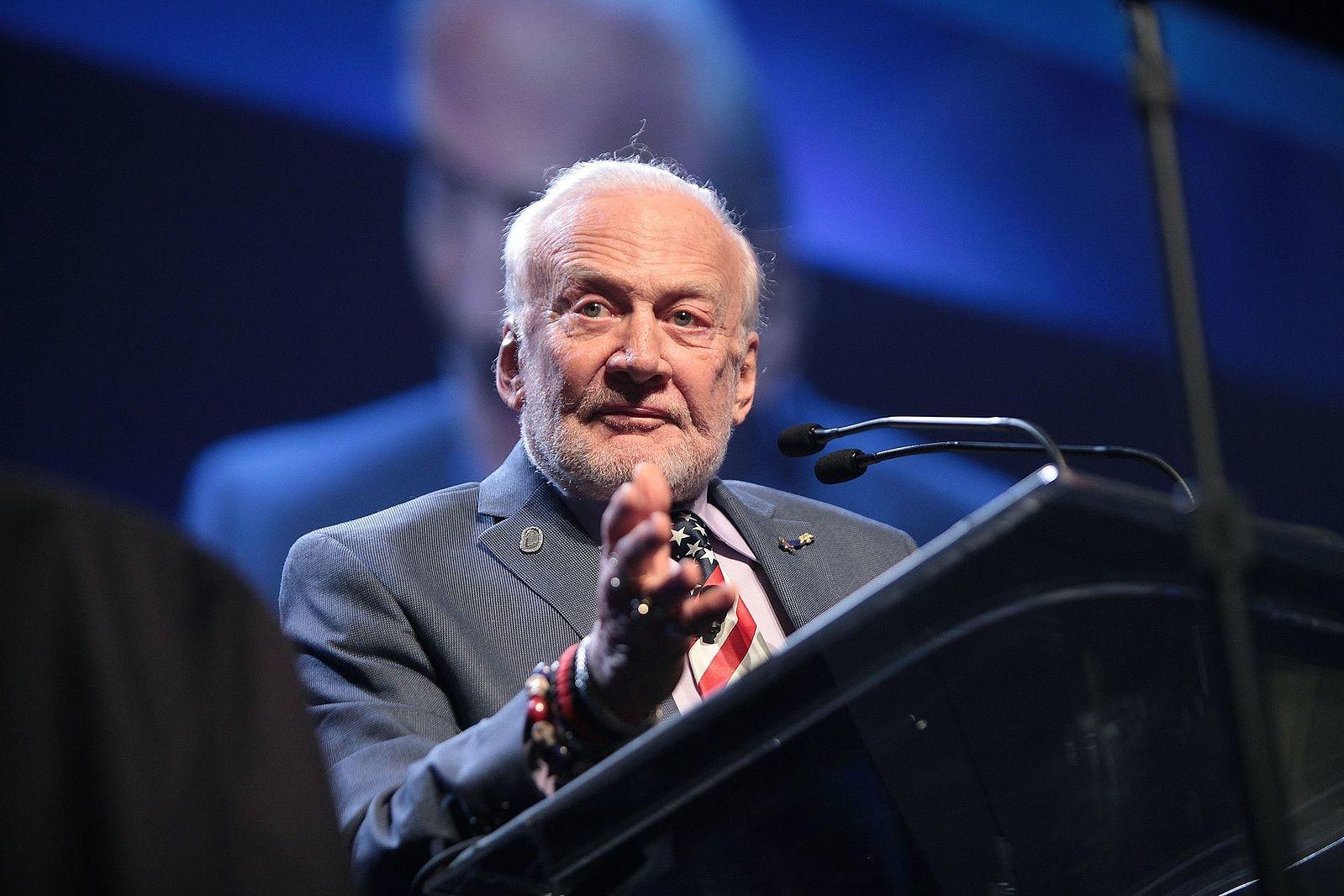 Buzz Aldrin, o segundo homem a pisar na Lua (Foto: Wikimedia Commons)