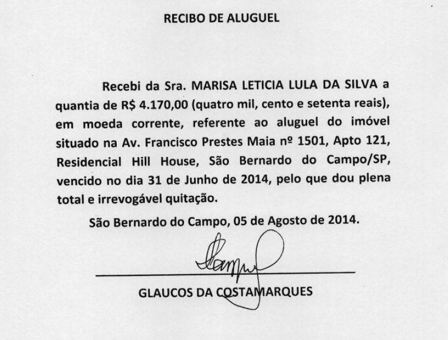 Recibos apresentados por defesa de Lula mostram datas que não existem no calendário