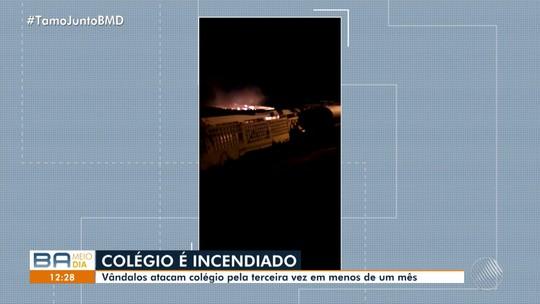 Colégio estadual é alvo de incêndio no norte da Bahia; arquivos e equipamentos são destruídos
