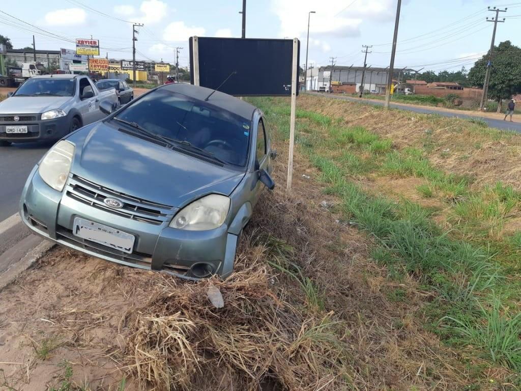 Motorista embriagado se envolve em acidente na BR-135 em São Luís