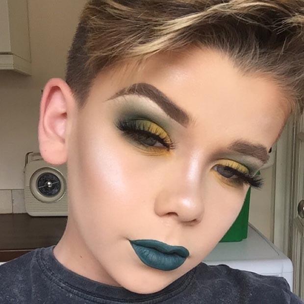maquiagem; garoto; (Foto: Instagram/makeuupbyjack)