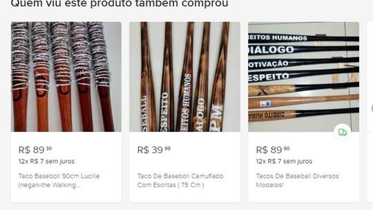 Site tira do ar anúncio que vendia taco de beisebol com pregos e inscrição  direitos  humanos   2cd1ffaaa63