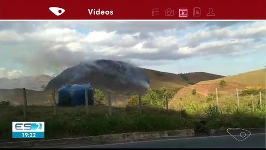 Moradores registram incêndio em Alegre, no Sul do ES