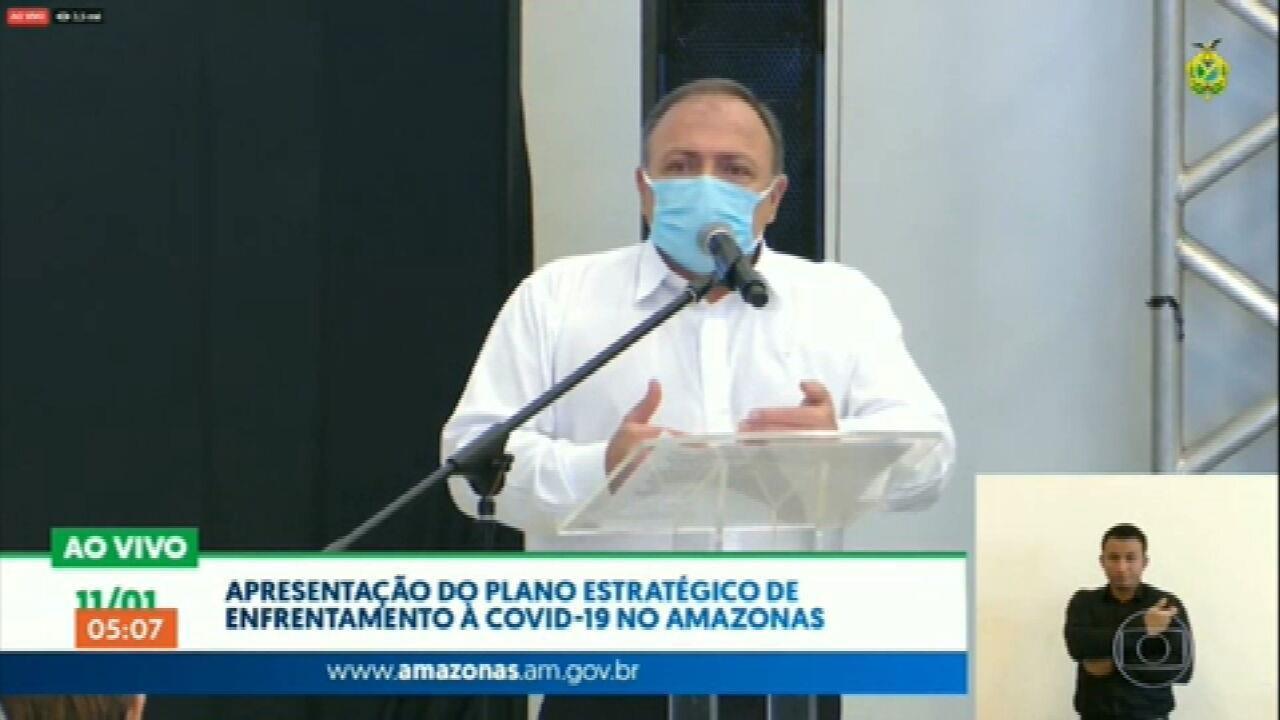 Pazuello diz que governo pode começar vacinação contra Covid-19 aplicando apenas 1 dose por pessoa