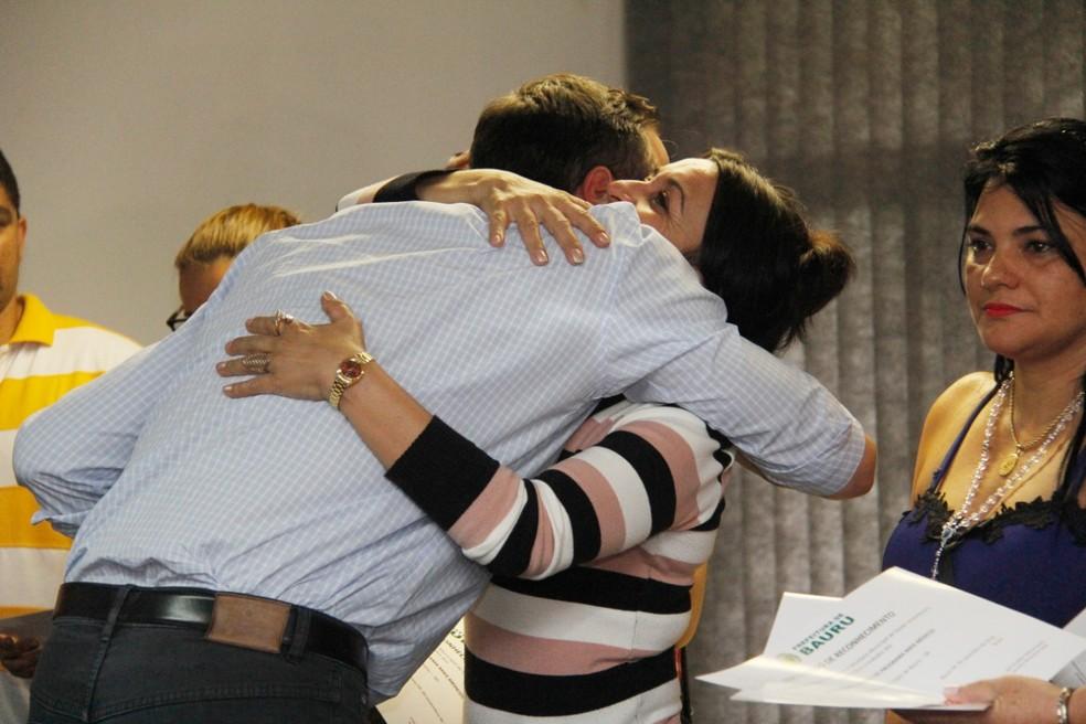 Despedida dos médicos cubanos que atuavam em Bauru foi feita em clima de emoção  — Foto: Prefeitura de Bauru/Divulgação