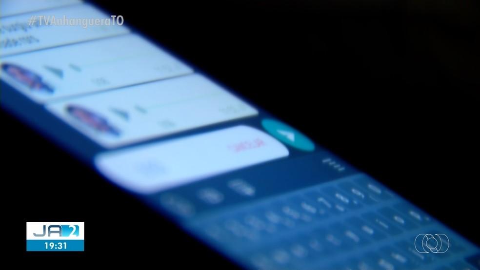 Candidatos mandaram os áudios em aplicativos de troca de mensagens — Foto: Reprodução/TV Anhanguera