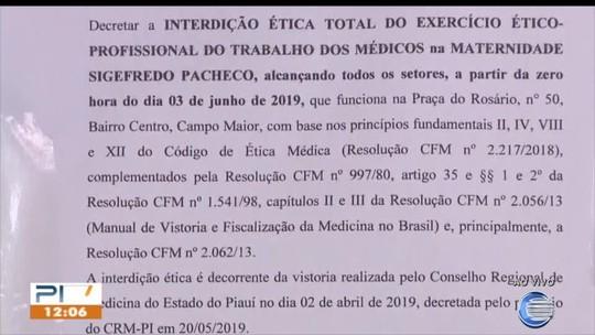 MP diz que recebia denúncias há três anos sobre maternidade interditada em Campo Maior