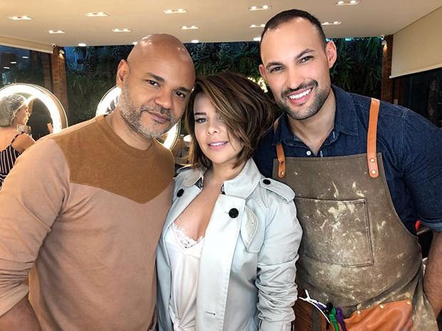 Fernanda Souza com Romeu Felipe e Ale de Souza (Foto: Divulgação)
