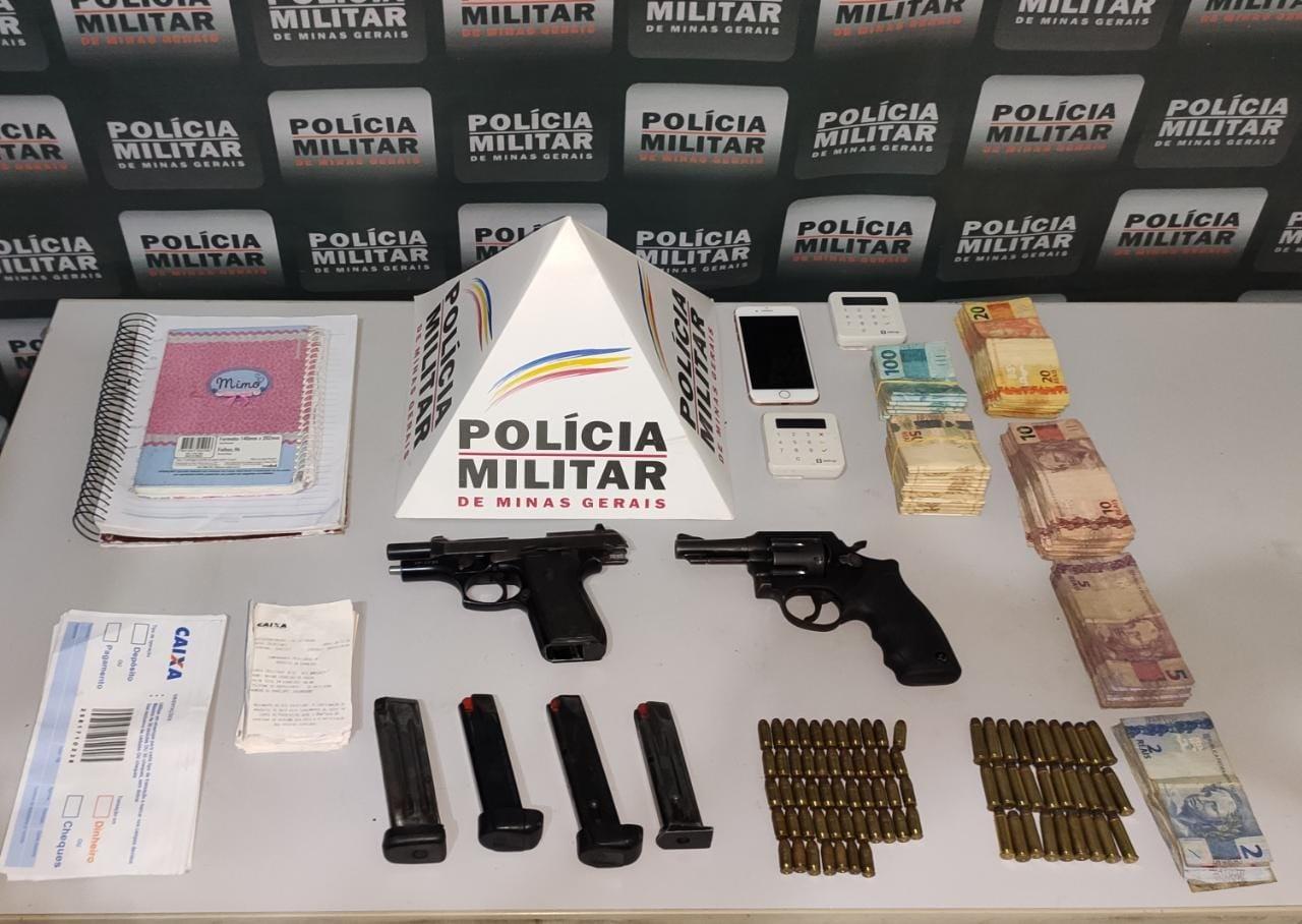 Dois são presos por tráfico de drogas em Governador Valadares; PM apreendeu mais de R$ 18 mil