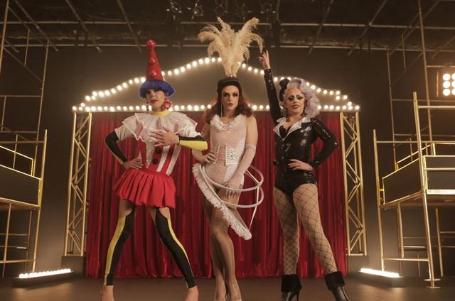 Ikaro Kadoshi, Rita Von Hunty e Penelopy Jean em 'Drag me as a queen' (Foto: Divulgação)