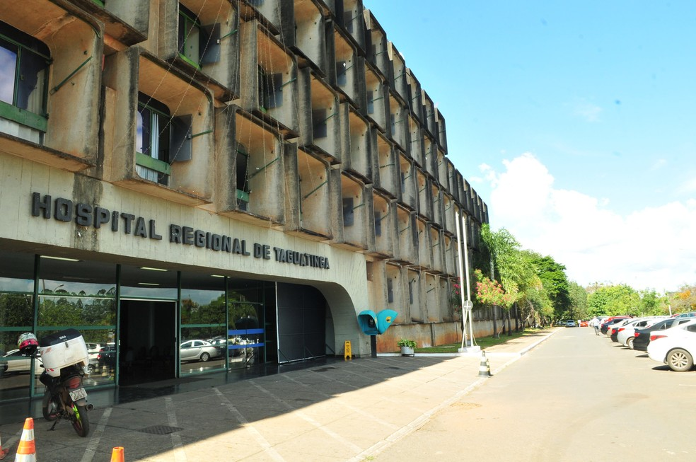 Fachada do Hospital Regional de Taguatinga, no Distrito Federal — Foto: Tony Winston/Agência Brasília