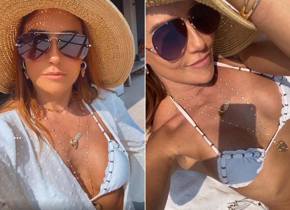 """Deborah Secco celebra 'mini férias' com vista paradisíaca: """"Amando"""""""