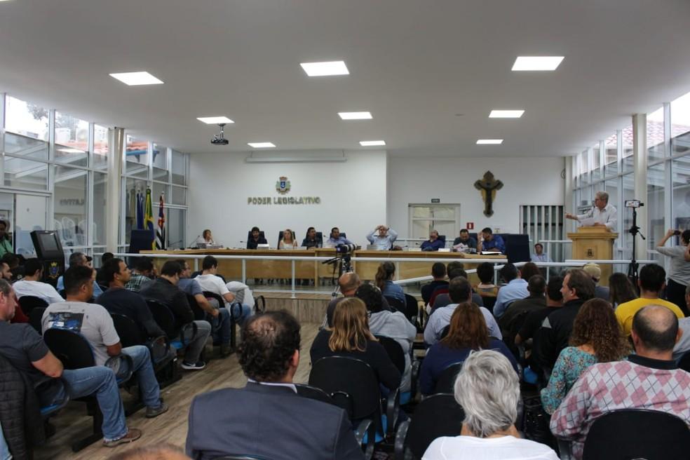 Câmara de Ilhabela decidiu pela cassação do mandato do prefeito após sessão com 24h de duração — Foto: Divulgação/Câmara de Ilhabela