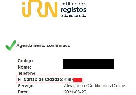 """Print da tela que seria o """"documento de entrada"""" em Portugal"""