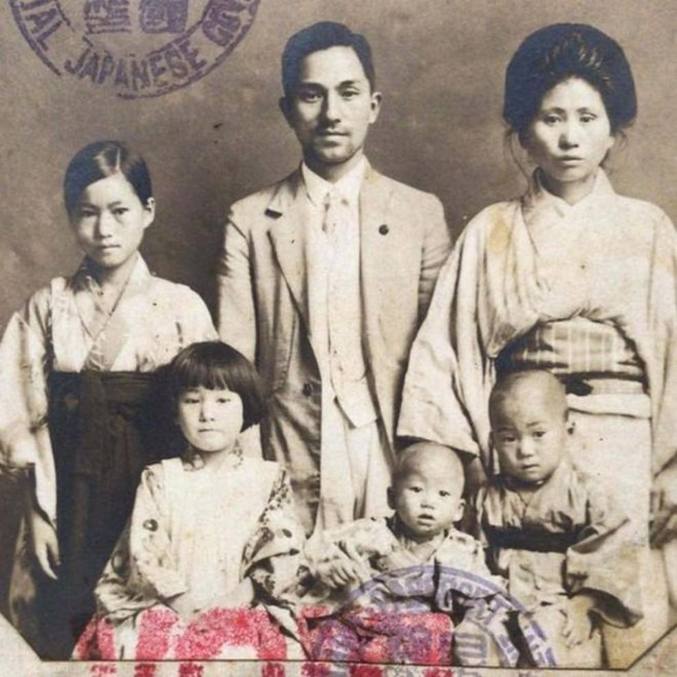 A família Mizobe chegou ao Brasil em 1927 — Foto: Arquivo pessoal