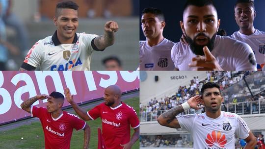 Gabigol contra o Internacional ou Guerrero contra o Flamengo: quem fez mais gols?