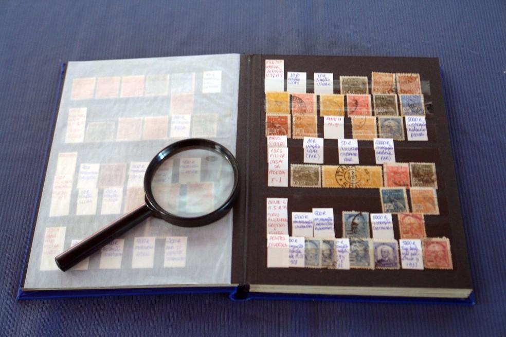 Coleção com mais de um milhão de selos é de Sorocaba (Foto: Silvio Rosa Santos Martins/Arquivo Pessoal)